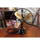"Antique GE Brass Oscilalting Fan 12"" AOU Restored"